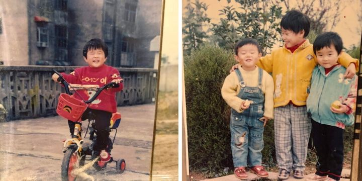 Photos of a young Laura Gao in Wuhan, China, before her family moved to Texas.
