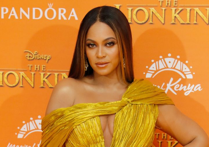 """Beyoncé attends the London premiere of """"The Lion King"""" in July 2019."""