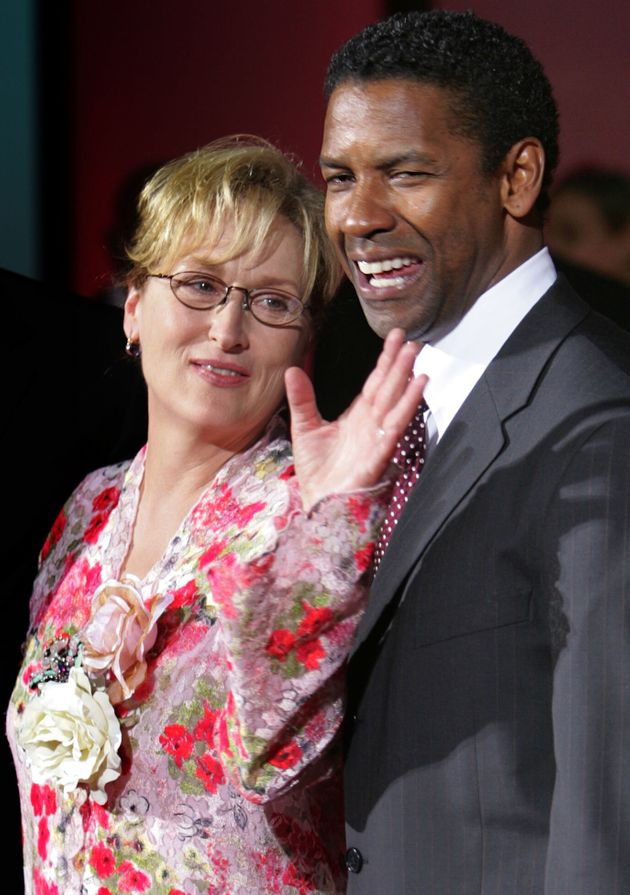 Denzel Washington and Meryl Streep, his co-star in The Manchurian