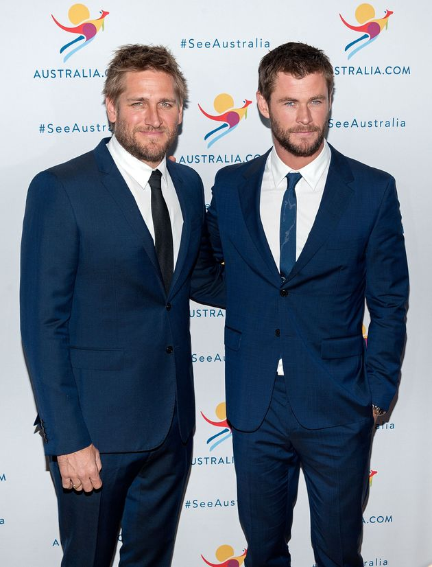 Curtis Stone (L) and Chris Hemsworth attend the