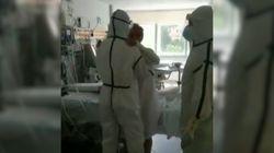 El primer baile de un paciente con coronavirus tras pasar 30 días en la
