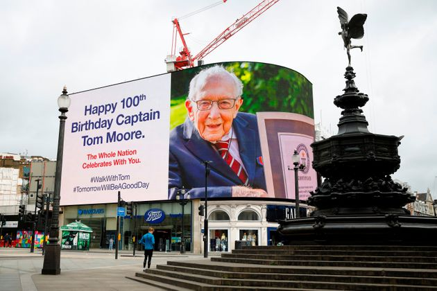 These Pictures Of Colonel Tom Moores 100th Birthday Have Cheered Us All Up