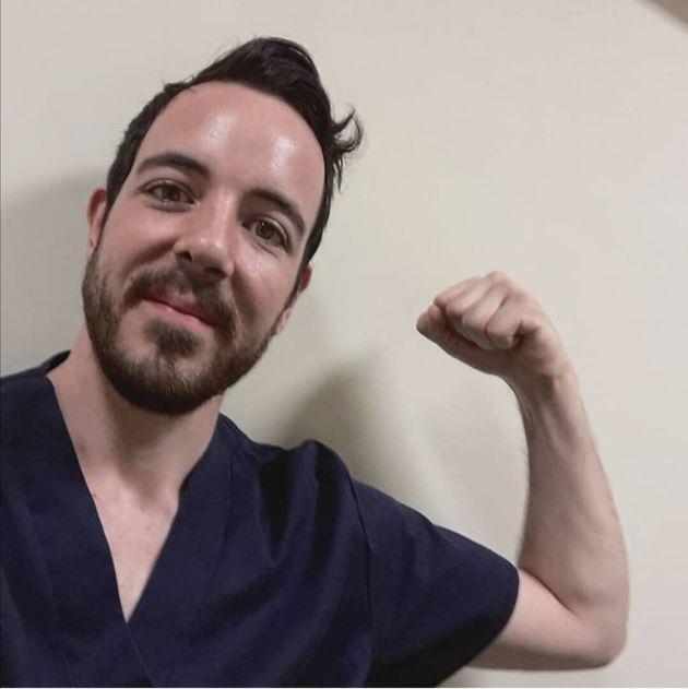 Marc, fisioterapeuta afectado por un