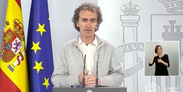 Fernando Simón, en rueda de prensa el 30 de abril de