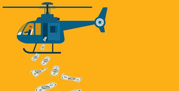 El helicóptero del dinero, la polémica propuesta de EEUU para hacer frente a la