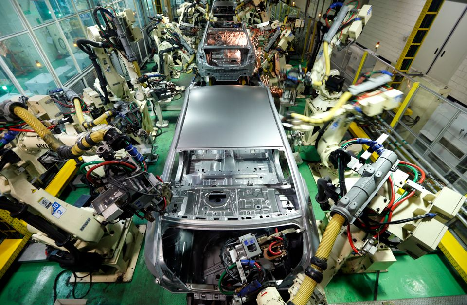 Hyundai Motor's sedans are assembled at a factory in Asan, about 62 miles south of Seoul, South