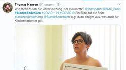 Médicos alemanes posan desnudos para protestar por la falta de equipos de