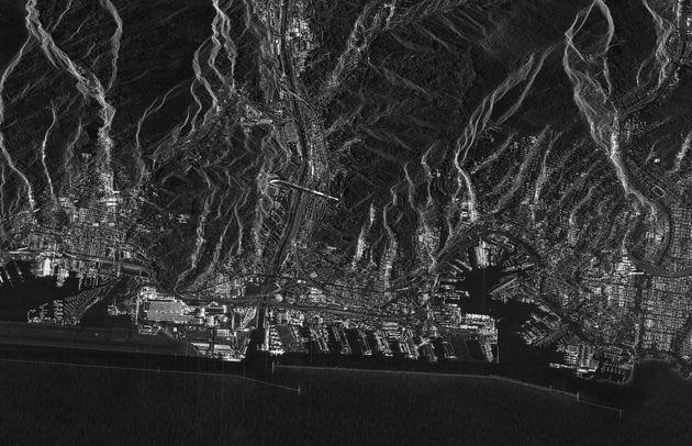 Genova fotografata dai satelliti