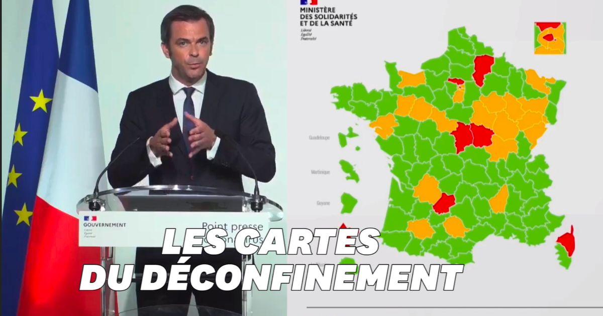 Carte Des Departements Du Deconfinement Les Explications D Olivier Veran Le Huffpost