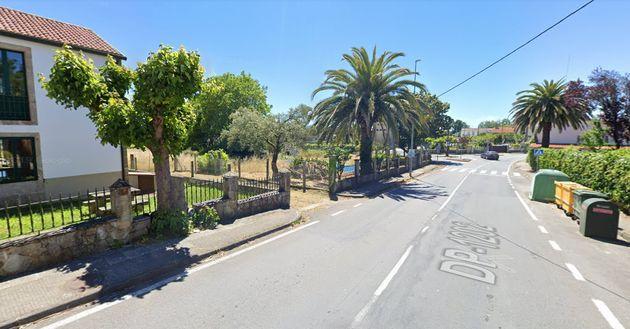 Una calle de Vedra, en A Coruña