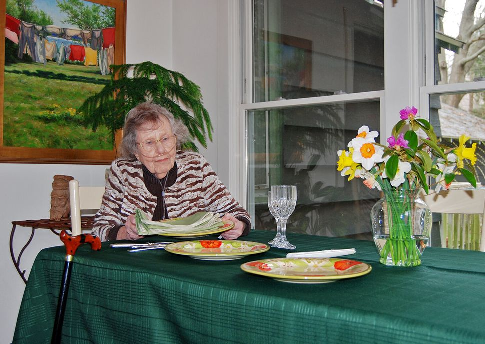 Beverly Sharp inside her home where she lives by herself.
