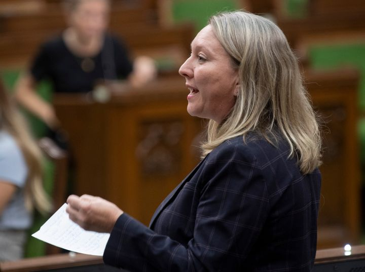 Middle Class Prosperity Minister Mona Fortier responds to a question in the House of Commons on Dec. 13, 2019 in Ottawa.