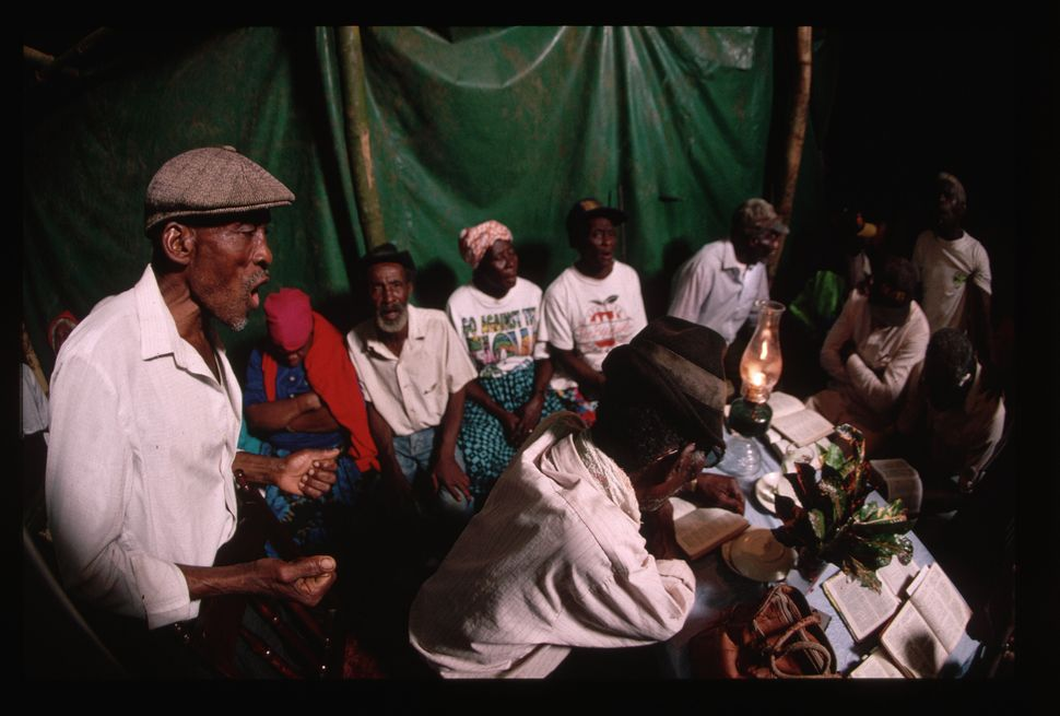 A traditional Jamaican nine night celebration after a death.
