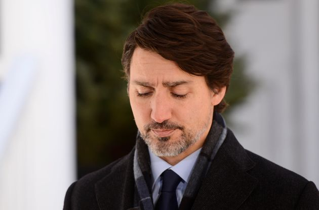 Canadian Prime Minister Justin Trudeau addresses Canadians on the COVID-19 pandemic from Rideau Cottage...