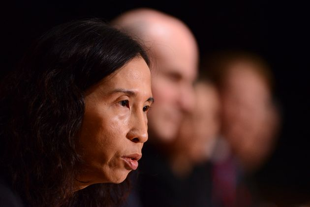 Dr. Theresa Tam, Canada's Chief Public Health Officer, joins ministers and government officials as they...