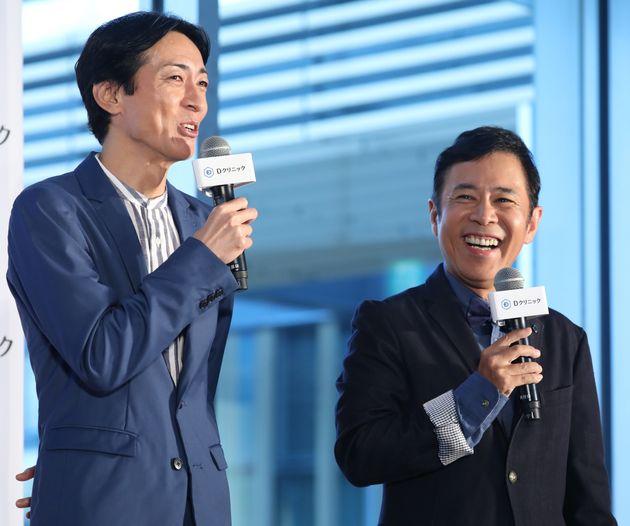 お笑いコンビ (左)矢部浩之 (右)岡村隆史