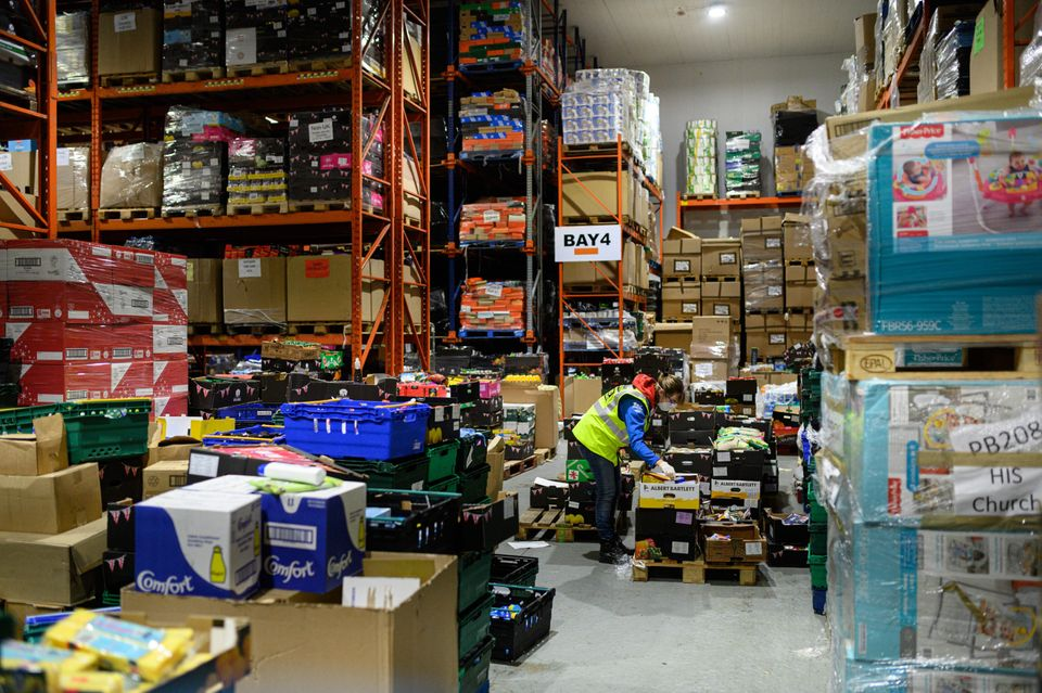 Demand at foodbanks across the UK as soared over the past few