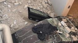 Auto precipita nell'ingresso sotterraneo del supermercato: tragedia sfiorata nel parmense
