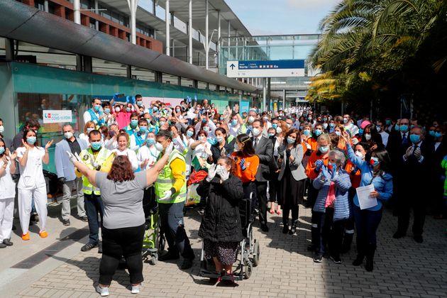Acto de cierre del hospital de campaña del recinto ferial de Ifema (Madrid) el 1 de