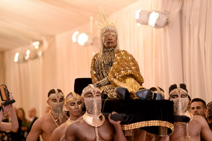 Billy Porter makes a grand entrance at the Met Ball in 2019