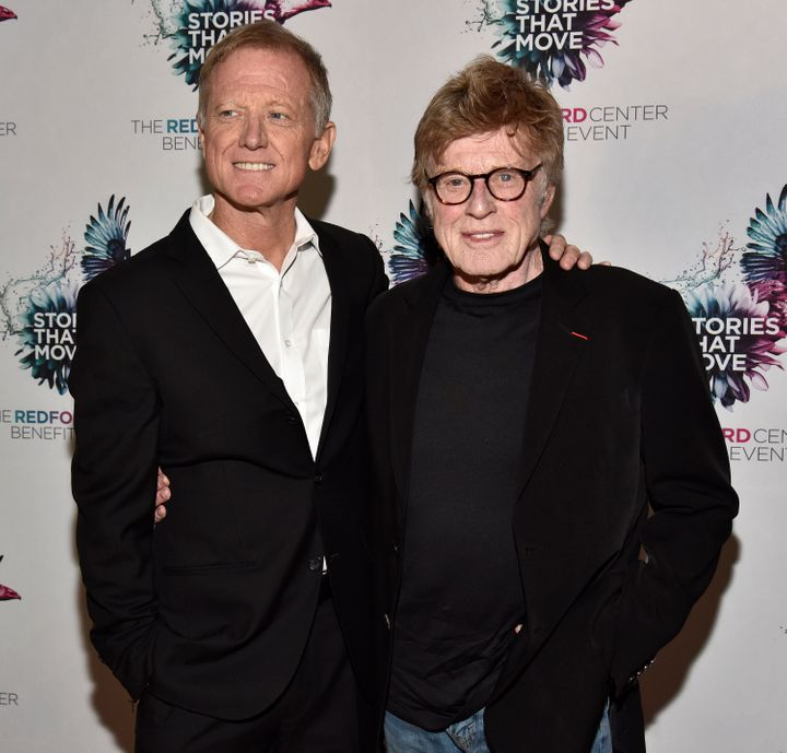 James (left) and Robert Redford (right) have penned a column that criticizes President Donald Trump's handling of the coronav
