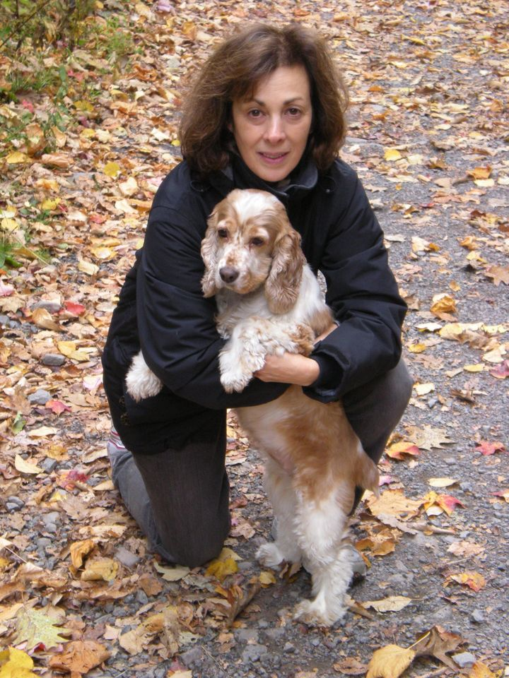 The author with her beloved Cassie in 2010.
