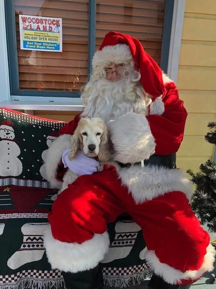 Cassie and Santa in 2019.