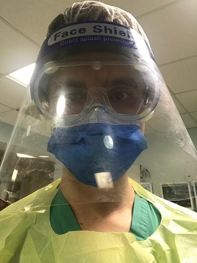 A selfie the author took in full PPE.