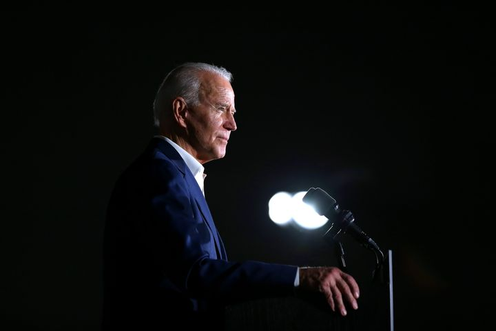 Democratic presidential candidate former Vice President Joe Biden speaks during a campaign event at Tougaloo College on March 08, 2020 in Tougaloo, Mississippi.