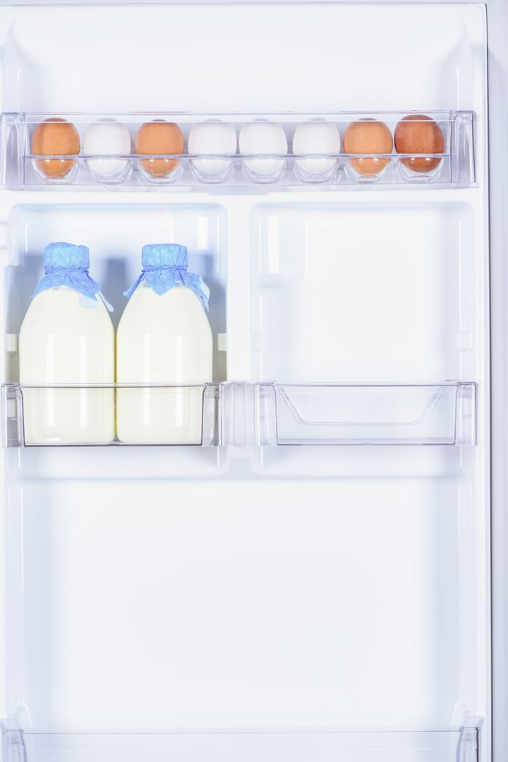 Do NOT keep your dairy products in the fridge door.