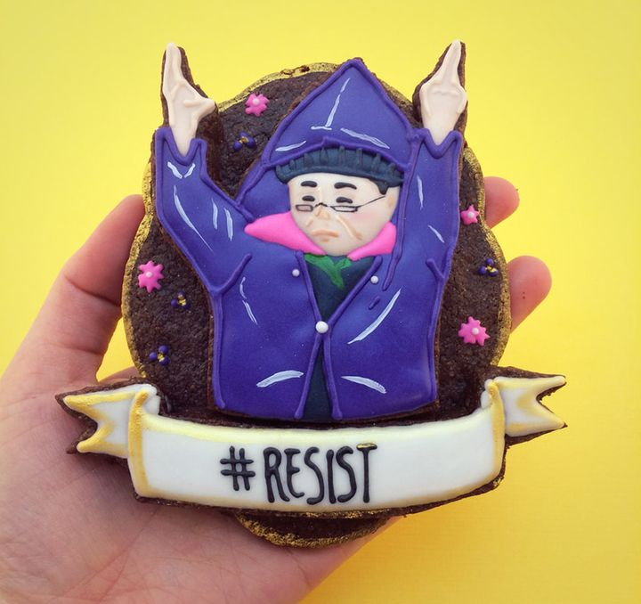 """Cho's cookie homage to """"Resistance Auntie."""""""