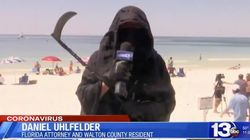 Florida Lawyer Goes To The Beach Dressed As The Grim Reaper To Protest
