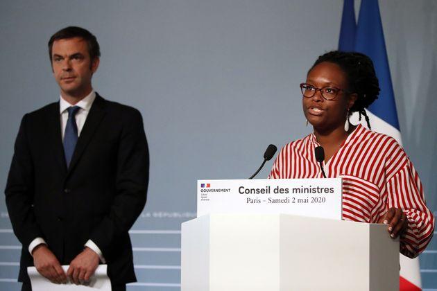 Sibeth Ndiaye, ici lors d'une conférence de presse à l'Élysée à Paris...