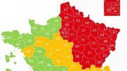 6 départements ont changé de couleur sur la carte du