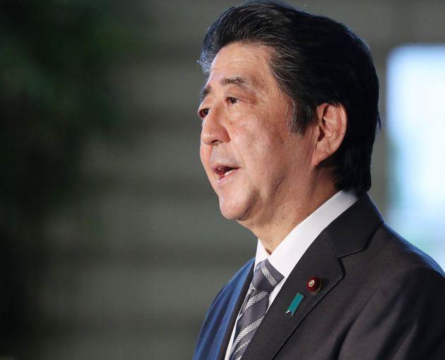 安倍晋三首相(2020年5月1日、首相官邸)