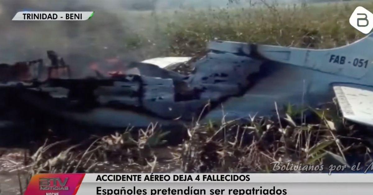 Mueren cuatro españoles en un accidente de avioneta en Bolivia
