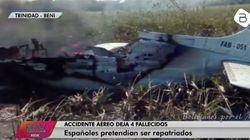 Mueren cuatro españoles en un accidente de avioneta en