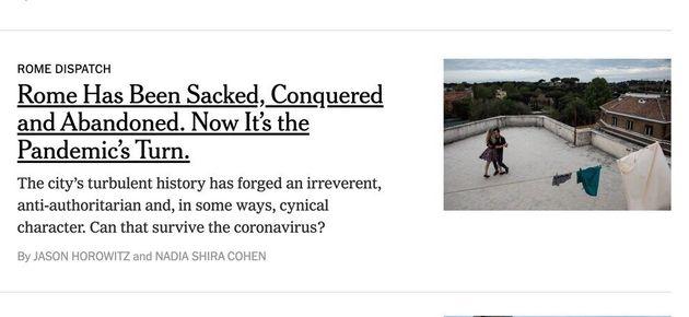 Il New York Times su Roma.