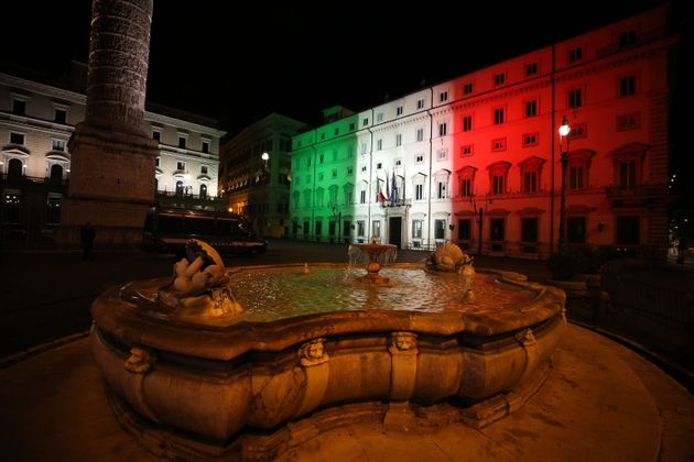 ROMA, ITALY - 2020/04/18: A view of Palazzo Chigi, official residence of the Prime Minister of Italy...