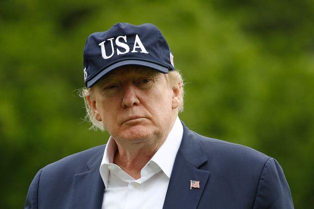 캠프 데이비드에서 휴가를 마치고 백악관으로 복귀한 도널드 트럼프 미국 대통령. 2020년