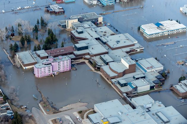 The Keyano College campus in downtown Fort McMurray is shown on April 28, 2020 after a 25-kilometre ice...