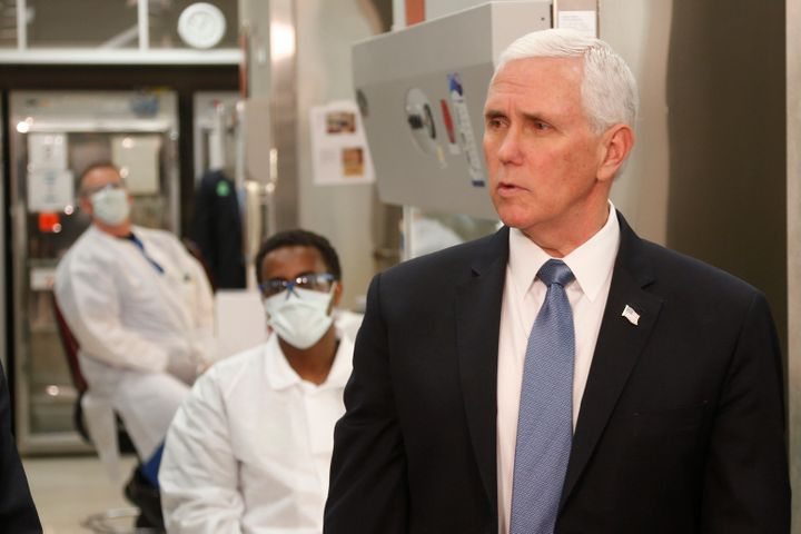 Vice President Mike Pence did not wear a face mask last week while visiting the molecular testing lab at Mayo Clinic.