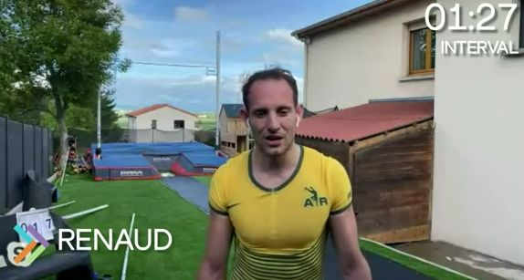 Lavillenie and Duplantis compete in pole vault in their outfield