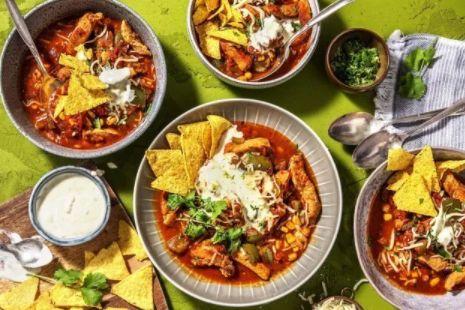 Mexican pork stew using pork strips.