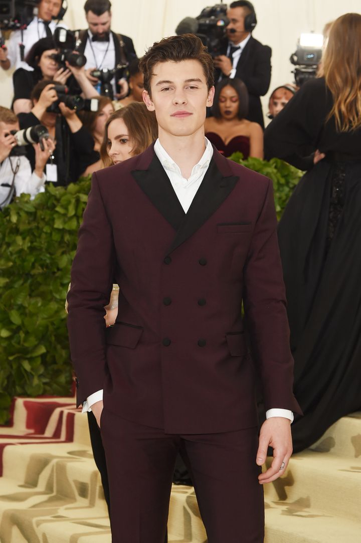 Shawn Mendes at the Heavenly Bodies: Fashion And The Catholic Imagination Met Gala in 2018