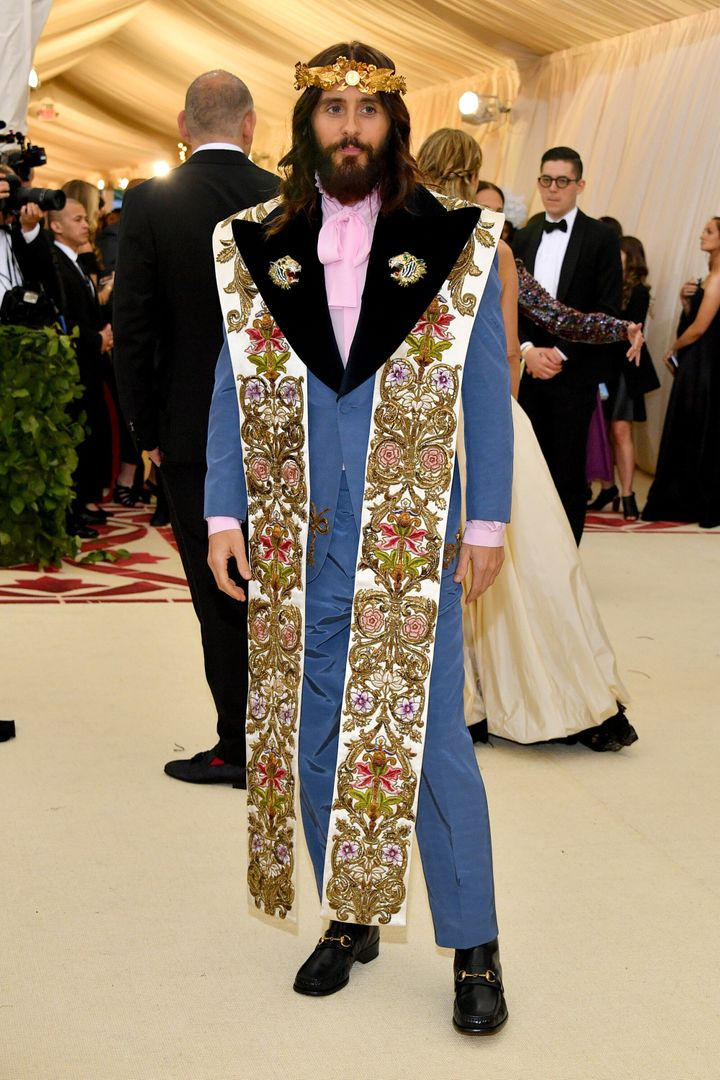 Jared Leto at the Met Gala in 2018