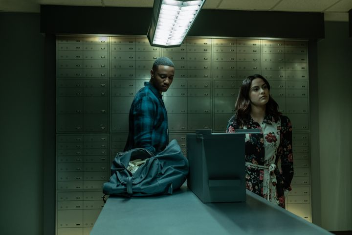 """Jessie Usher and Camila Mendes in """"Dangerous Lies"""""""