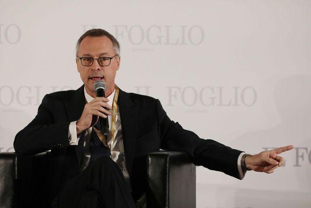 Carlo Bonomi di Assolombarda alla Festa del Foglio di Firenze, 23 novembre 2019. ANSA/CLAUDIO