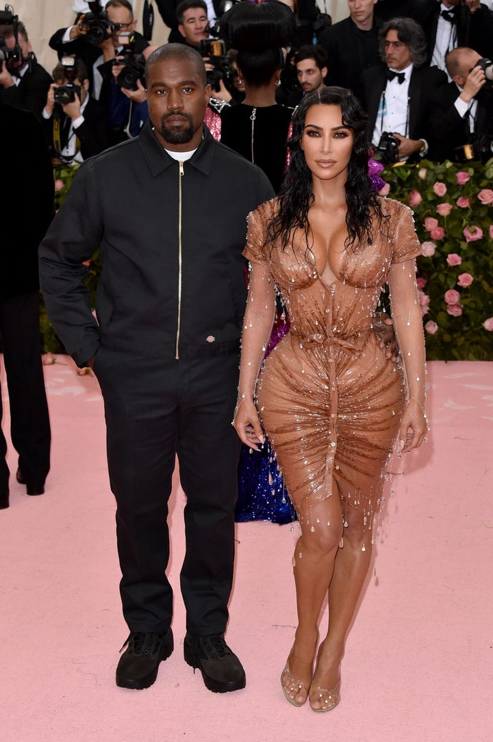 Kanye West and Kim Kardashian West at last year's Camp: Notes On Fashion Met Gala