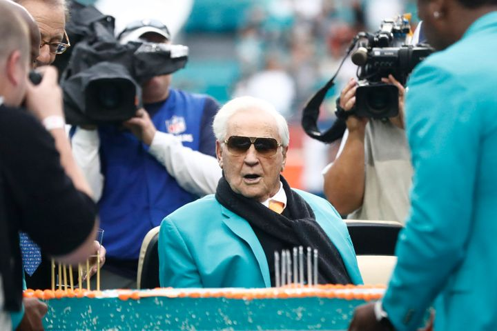 Coach Don Shula won the most games of any NFL coach and led the Miami Dolphins to the only perfect season in league history.